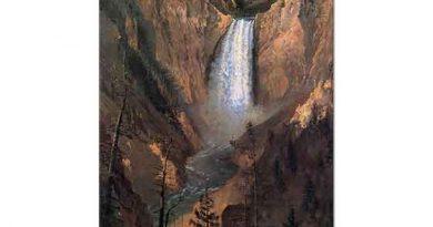 Albert Bierstadt Yellowstone Şelalesi