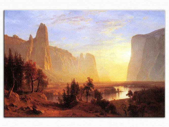 Albert Bierstadt Yosemite Vadisi Yellowstone