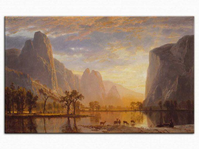 Albert Bierstadt Yosemite Vadisinde