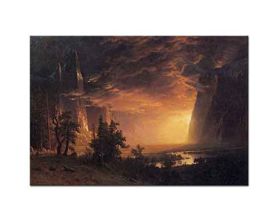 Albert Bierstadt Yosemite Vadisinde Günbatımı
