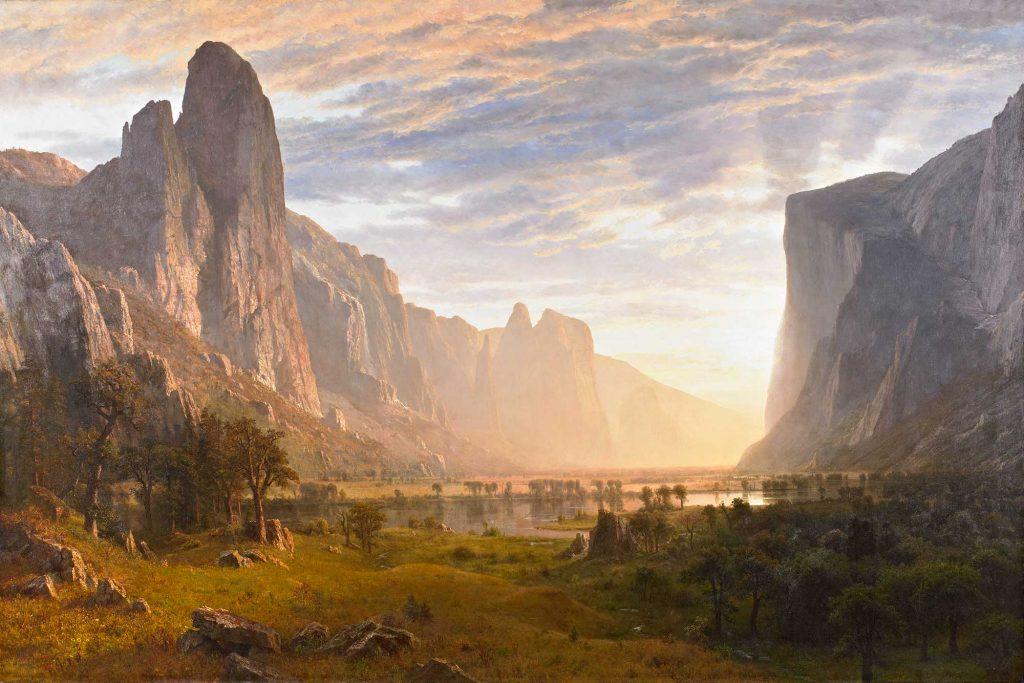 Albert Bierstadt Yosemite Vadisine Bakış