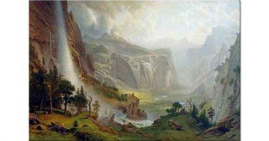 Albert Bierstadt Yosemite'te Tepeler