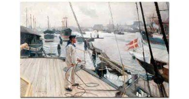 Albert Edelfelt Kopenhag Limanından