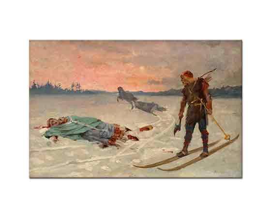 Albert Edelfelt Rahip Henrik'in öldürülüşü