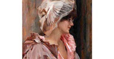 Albert Edelfelt Sabahlığı ile bir Parisli Kadın