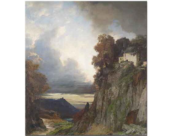 Albert Flamm Rhein Kıyısında Akşam