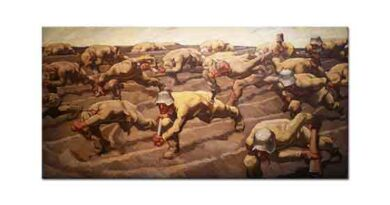 Albin Egger Lienz Kuzey Fransa 1917 İsimsizler