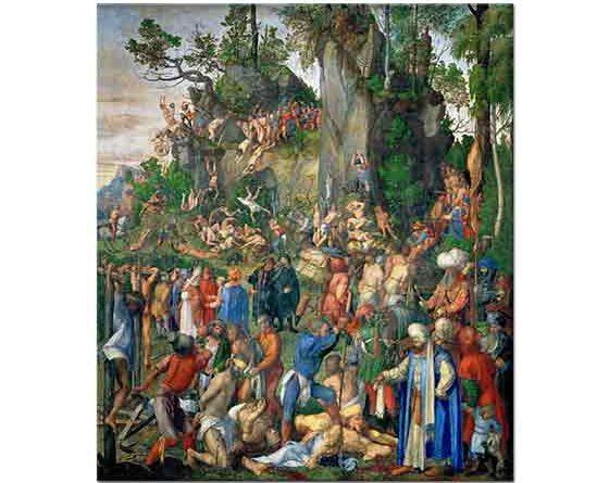 Albrecht Dürer, On Bin Hristiyan'ın Katledilmesi