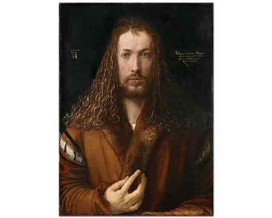 Albrecht Dürer, Yakası Kürklü Cübbe içinde Kendi Portresi