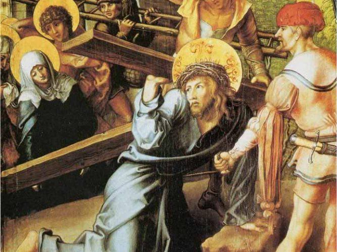 Albrecht Dürer Meryem'in Yedi Çilesi Çarmıhını Taşıyan Isa