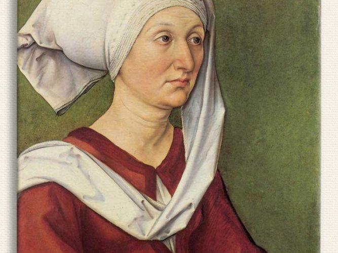 Albrecht Dürer Barbara Dürer'in Portresi