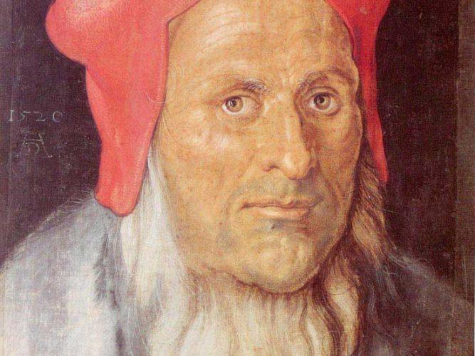Albrecht Dürer Kırmızı Şapkalı Sakallı Adam Portresi