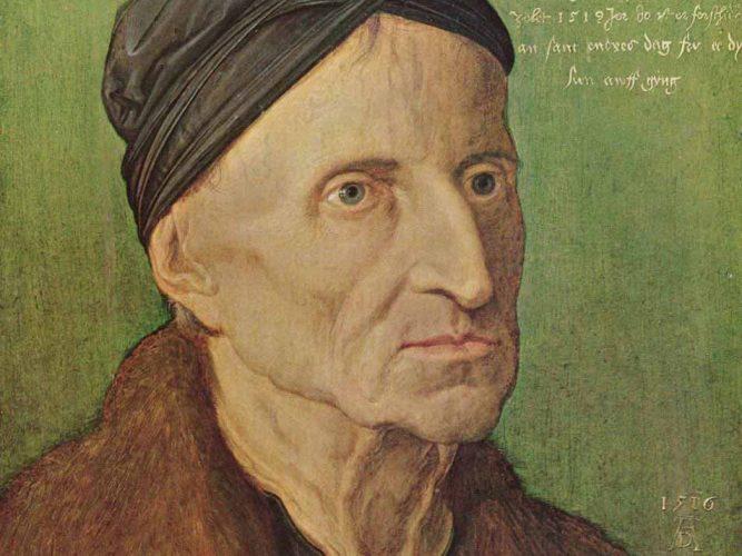 Albrecht Dürer Michael Wolgemut'un Portresi