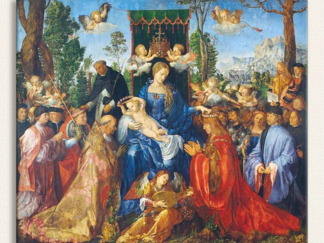 Albrecht Dürer Gül Çelenkli Kutlama