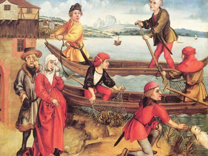 Albrecht Dürer Bregenz'de Boğulan Bir Çocuğun Mucizevi Kurtuluşu