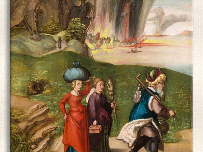 Albrecht Dürer Sodom Şehrinden Ayrılan Lut ve Kızları