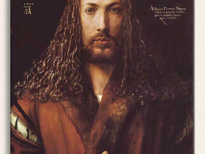 Albrecht Dürer Yakası Kürklü Cübbe içinde Kendi Portresi