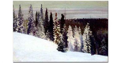 Alexander Aleksievich Borisov Kış ve Çam Ağaçları