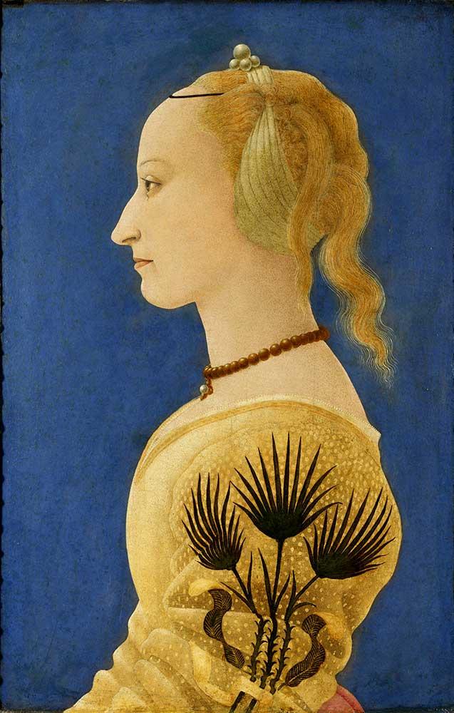 Alesso Baldovinetti Sarı Giysili Kadın