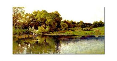Alexandre Calame Göl Kıyısı