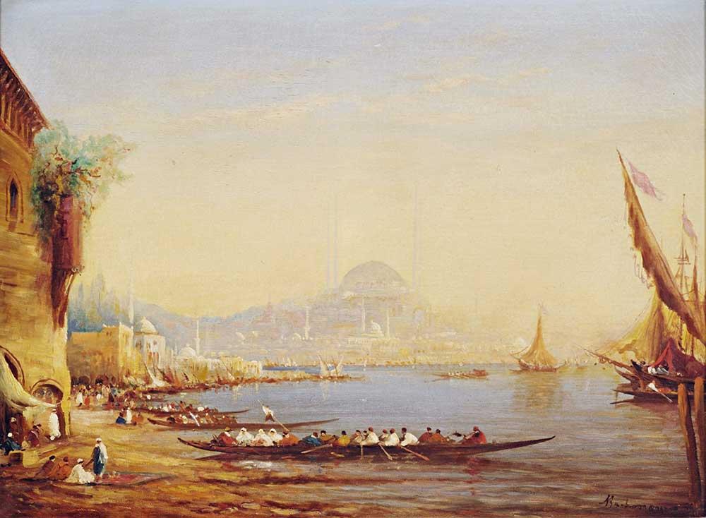 Alfred August Felix Bachmann Istanbul Limana Bakış