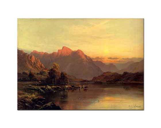 Alfred de Breanski Göl Bölgesi Buttermere