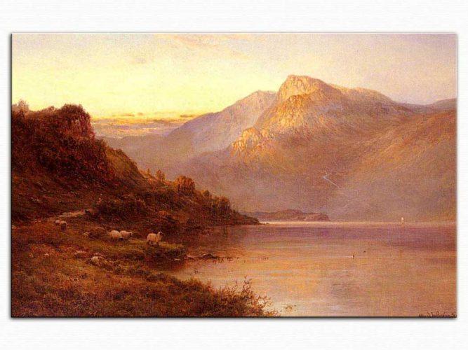 Alfred de Breanski Loch'da Günbatımı