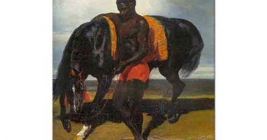 Alfred de Dreux Deniz Kıyısında Atına Bakan Afrikalı