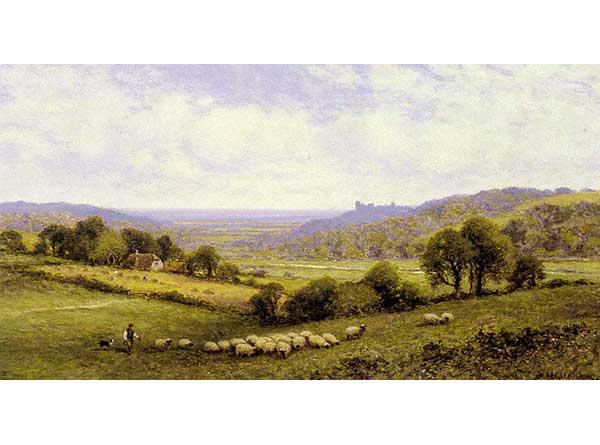 Alfred Glendening Amberley Civarı ve Arundel Kalesi