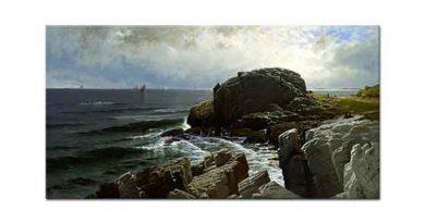 Alfred Thompson Bricher Castle Kayası Marblehead