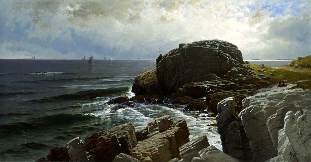 Alfred Thompson Bricher Castle Kayası Marblehead