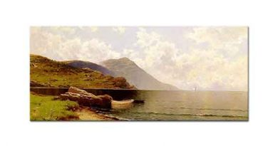 Alfred Thompson Bricher Kıpırtılı Deniz Manchester