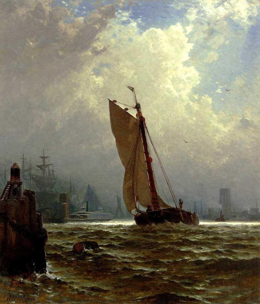 Alfred Thompson Bricher New York Limanı
