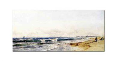 Alfred Thompson Bricher Rockaway Sahili
