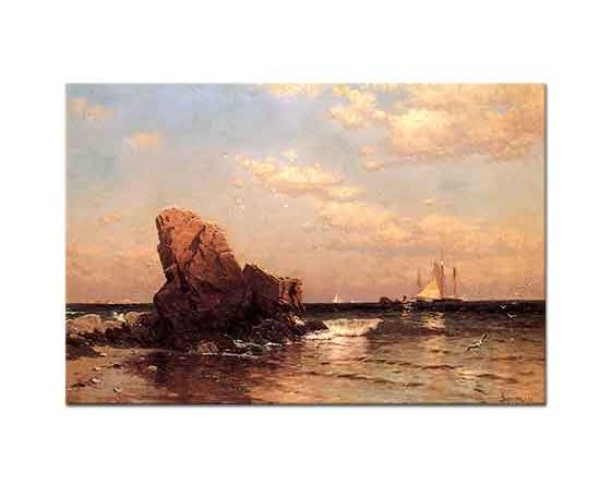 Alfred Thompson Bricher Sahilde Kayalık