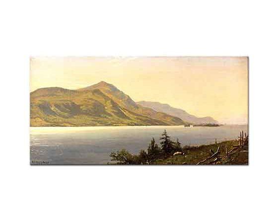 Alfred Thompson Bricher Tongue Dağı George Gölü