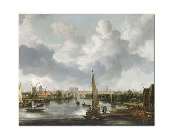 Allaert van Everdingen Kıyıda Tekneler