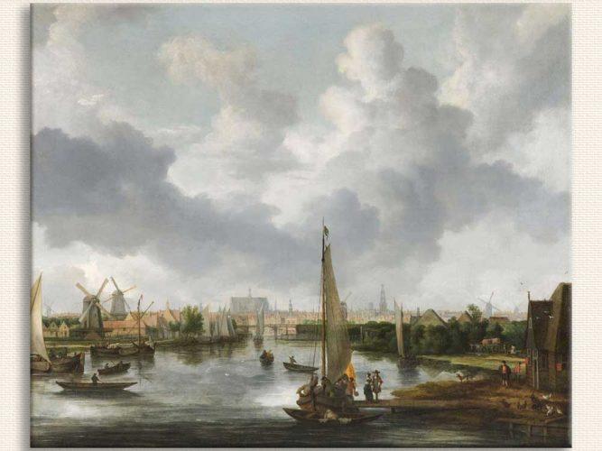 Allart van Everdingen Kıyıda Tekneler