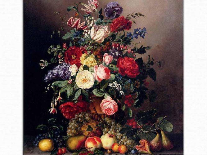 Amalie Kaercher çiçek meyve ve böcekler