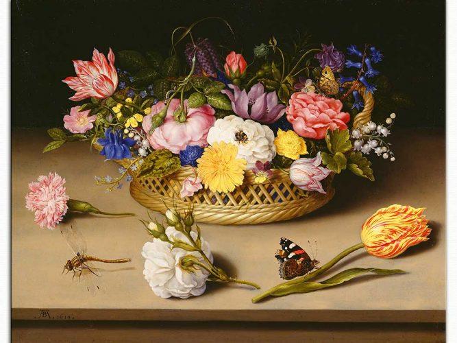 Ambrosius theElder Bosschaert Çiçek Sepeti