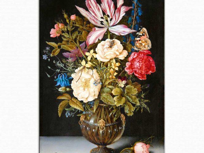 Ambrosius the Elder Bosschaert Çiçekler ve Kelebekler
