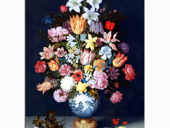 Ambrosius theElder Bosschaert Çiçekli Natürmort