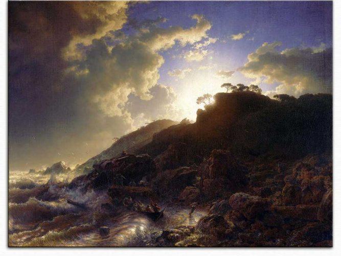 Andreas Achenbach Sicilya Sahilinde Fırtına Sonrası