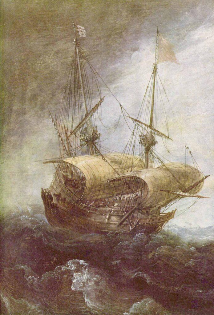 Andries van Eertvelt Fırtınalı Deniz