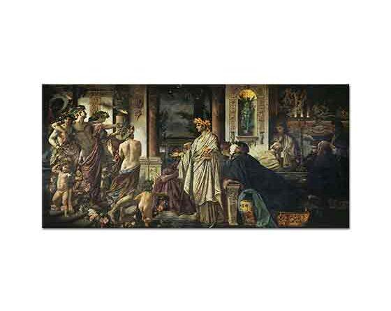 Anselm Feuerbach Eflatun'un Misafir Kabulü - The Platos Symposium