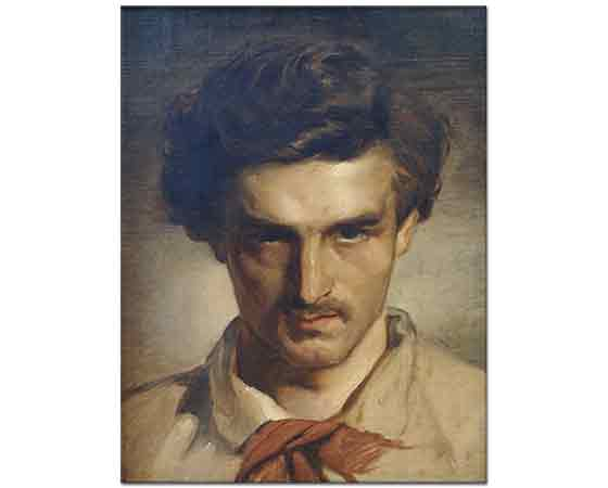 Anselm Feuerbach Kendi Portresi - Self Portrait