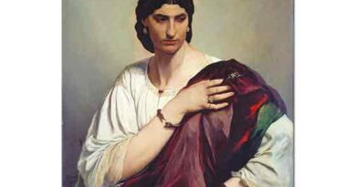 Anselm Feuerbach Roman Kadın Portresi - Portrait of a Roman Woman