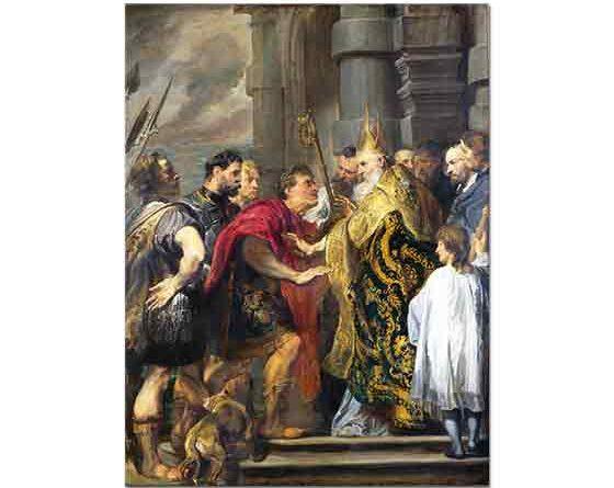 Sir Anthony Van Dyck, Aziz Ambrosius ve Kaiser Theodosius