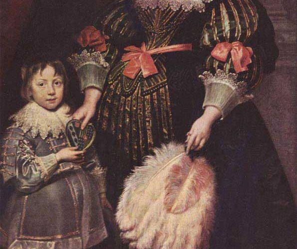 Sir Anthony Van Dyck Çocuğu ile Birlikte Charlotte Butkens