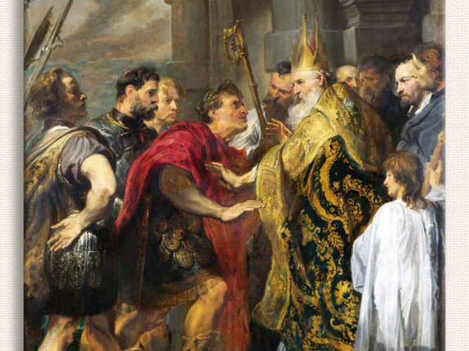 Sir Anthony Van Dyck Aziz Ambrosius ve Kaiser Theodosius